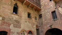 Juliet´s house in Verona - Romeo and Juliet Stock Footage