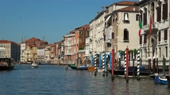 Beautiful historic city center in Venice - Grand Canal Stock Footage