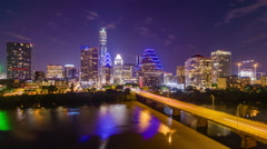 Austin, Texas Skyline Arkistovideo
