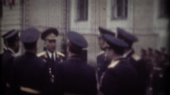 MOSCOW, USSR - MAY, 1980: Military Academy of the Strategic Missile Forces Stock Footage
