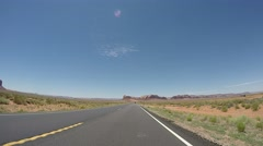 The Road to Monument Valley Time Lapse Stock Footage