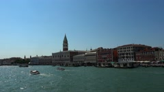Wide angle view over the skyline of Venice San Marco Stock Footage