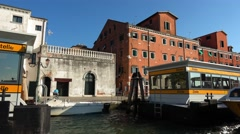 Zitelle Waterbus stop in Venice Stock Footage