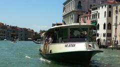 ACTV Waterbus service in Venice Stock Footage