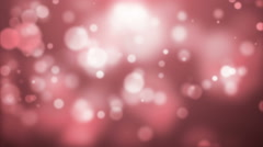 Moving Abstract Particles On Red Background Stock Footage