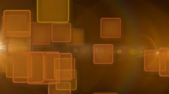 Orange squares abstract motion background Stock Footage