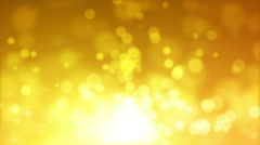 Yellow Glitter Lights Abstract Background Stock Footage