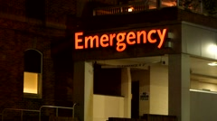 Emergency Room, Night Stock Footage