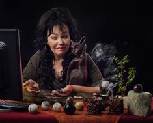 Gem stone method of divination online Stock Photos