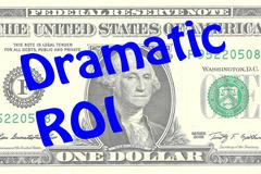 Dramatic ROI business concept - stock illustration