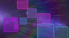 Colorful squares abstract motion background Stock Footage