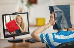Honest dating online - stock photo
