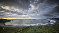 Pacific ocean scene, Oregon, time lapse Stock Footage