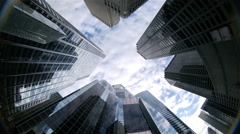 Skyscrapers, downtown Chicago, IL Stock Footage