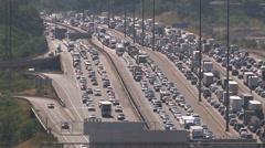 Epic jam on Toronto highway 401 Stock Footage