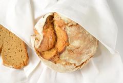 fresh artisan bread - stock photo