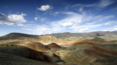 John Day Painted Hills National Monument,Oregon Stock Footage