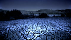 Dry, cracked earth, California Stock Footage