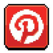 8 Bit Pinterest Icon Piirros