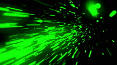 Massive Data Streaks Green Loopable Background Stock Footage
