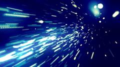 Massive Data Streaks Blue Loopable Background Stock Footage