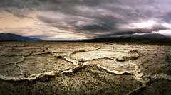 Salt flats at Badwater, Death Valley National Park, California Stock Footage