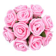 Bouquet of pink flower isolated, beautiful decoration,top view Stock Photos