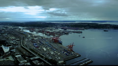 Seattle harbor and Puget sound, Washington Stock Footage