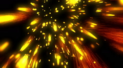 Raining Fireworks Gold Loopable Background Stock Footage
