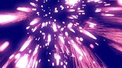 Raining Fireworks Magenta Loopable Background Stock Footage