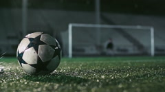 Powerful Soccer Shot Stock Footage