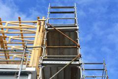 Construction on medium office commercial building Stock Photos