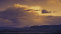 Storm over Canyonlands National Park, Utah Stock Footage