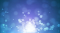 Blue Moving Glitter Lights Stock Footage