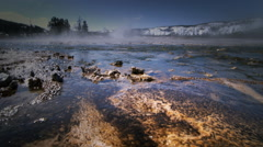 Thermal features and algae, Yellowstone National Park, Wyoming Stock Footage