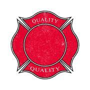 Grunge banner. Distressed frame. Vintage badge. Stock Illustration