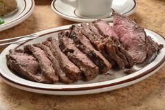 Beef sirloin roast Stock Photos