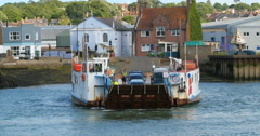 Chain ferry boat Stock Footage