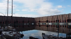 Albert Dock in Liverpool Stock Footage