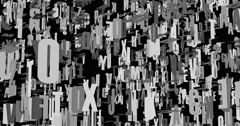 The letter matrix Stock Footage