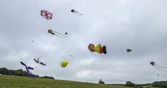 Several kites flying Stock Footage