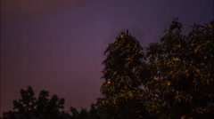 Night thunder-storm with lightnings Arkistovideo