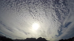 Table Mountain Cloudy Timelapse Stock Footage