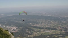 Free flight on Mount Grappa,  one of the best Italian and European flight zones. Stock Footage