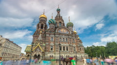 Church of the Savior on Spilled Blood timelapse hyperlapse Stock Footage