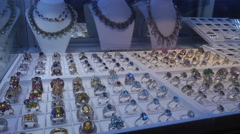 jewelry and gold store - stock footage