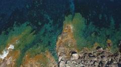 Sea coast aerial shot - beautiful nature Stock Footage