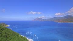 Deep blue ocean aerial shot Stock Footage