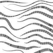 Binary Code Algorithm, Decryption and Encoding Stock Illustration