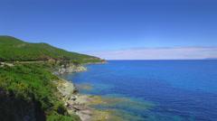 Beautiful Corsica Cap Corse coast Stock Footage